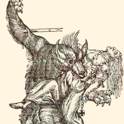 Un home llop devora una dona'