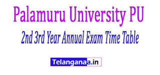 PU UG / Degree 2nd 3rd Year Annual Exam Time Table 2017