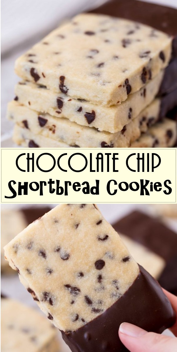 Chocolate Chip Shortbread Cookies #Cookiesrecipes