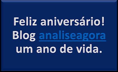 Feliz aniversário! Blog analiseagora um ano de vida.
