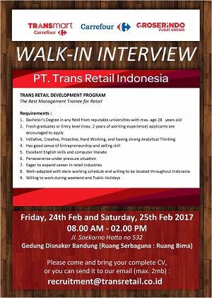 PT. Trans Retail Indonesia