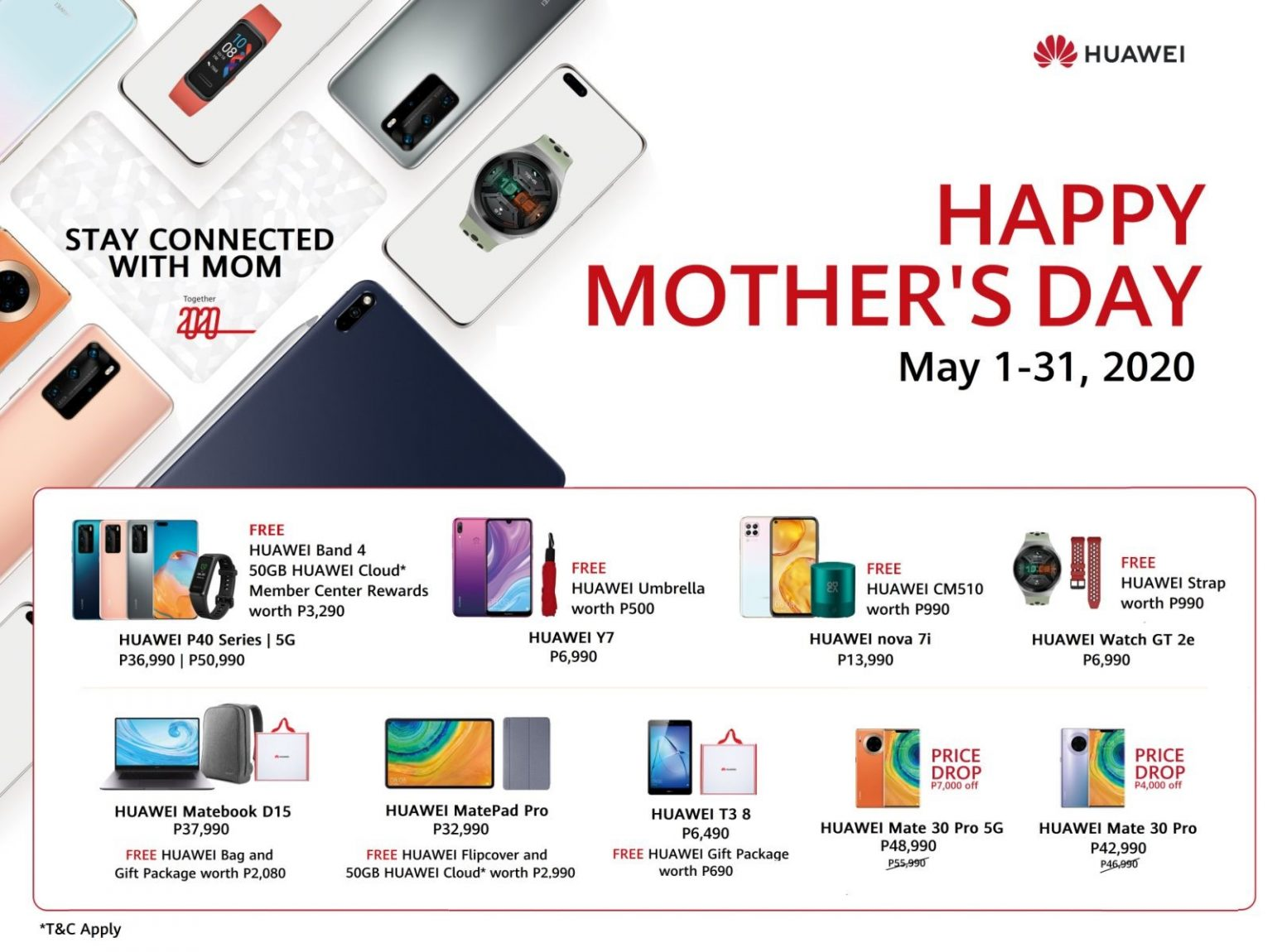 huawei mother's day promo 2020