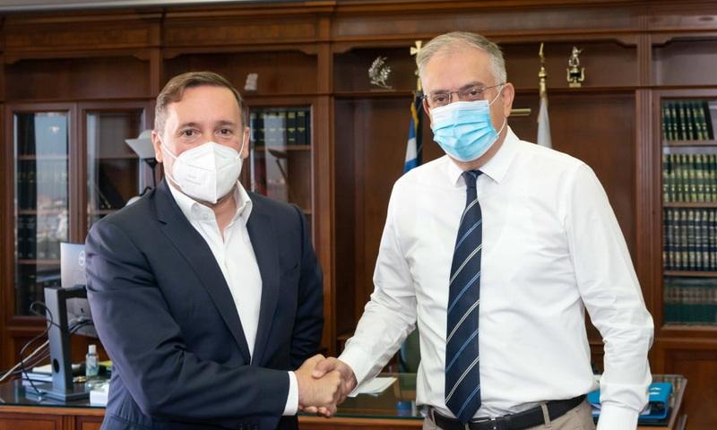 Συνάντηση του Δημάρχου Αλεξανδρούπολης Γιάννη Ζαμπούκη με τον Υπουργό Προστασίας του Πολίτη Τάκη Θεοδωρικάκο