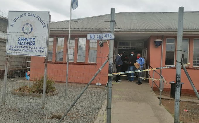 Woman shot dead by abusive husband in South African police station