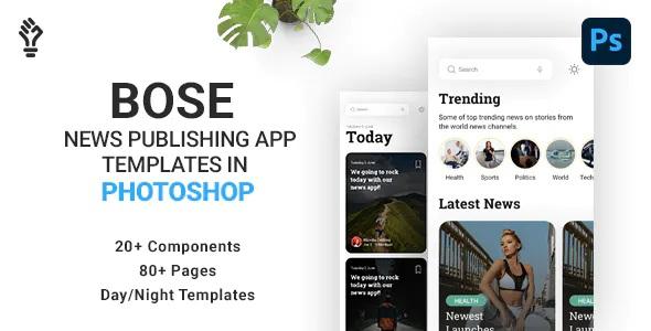 Best News Magazine App PSD Template