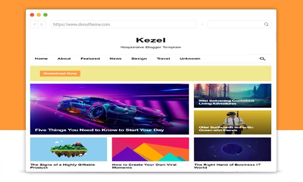Kezel Responsive Blogger Template