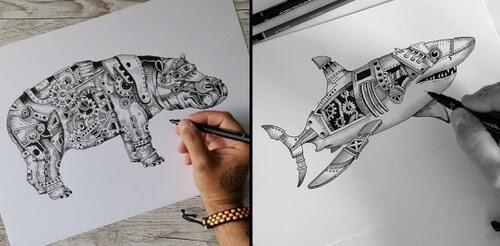 00-Steampunk-Animals-Steve-Turner-www-designstack-co