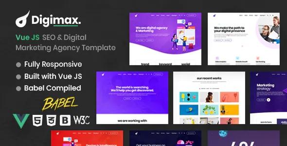 Best Vue JS SEO & Digital Marketing Agency Template