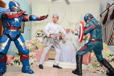 Biasa nampak org bersilat jer depan pengantin