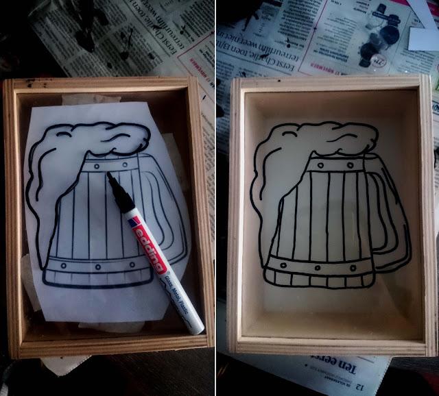 glas tekenen pen diy