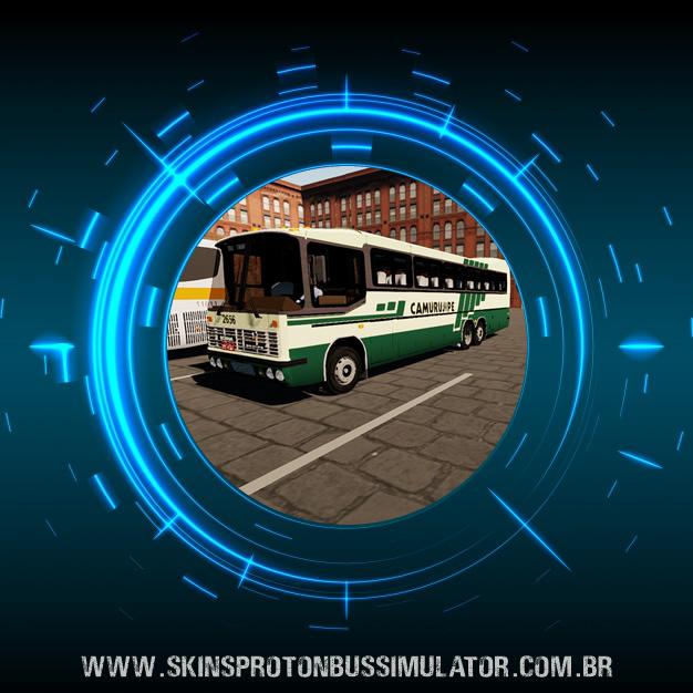 Skin Proton Bus Simulator - Nielson Diplomata 350 Scania K112 Viação Camurujipe