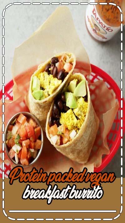 vegan breakfast burrito! 20-minutes to make, hearty and super tasty @minimalistgigi