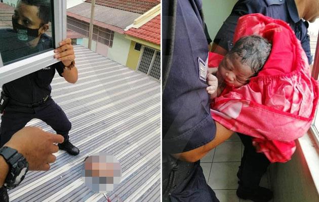 'Terdengar dentuman di bumbung' - Remaja campak bayi baru lahir dari tingkat 2