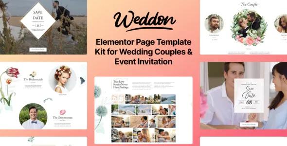 Best Wedding Event Invitation Elementor Template Kit