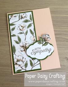 Magnolia Blooms Sympathy card Stampin Up