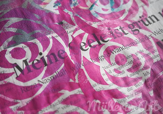 Rosenschablonendruck ©Müllerin Art