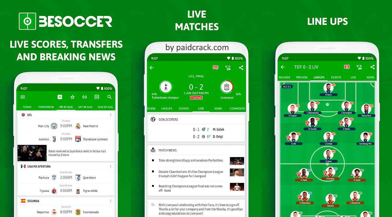 BeSoccer - Soccer Live Score Mod Apk