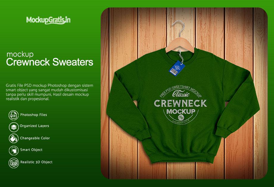 Mockup Sweater Crewneck Depan Belakang