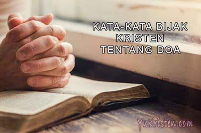 kata kata bijak kristen tentang doa