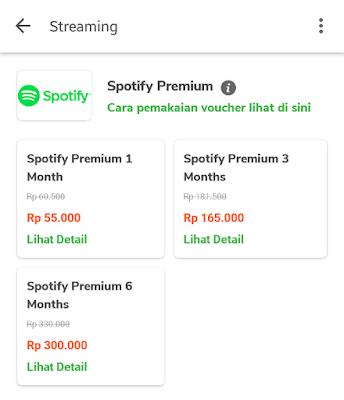 cara berlangganan spotify premium lewat tokopedia