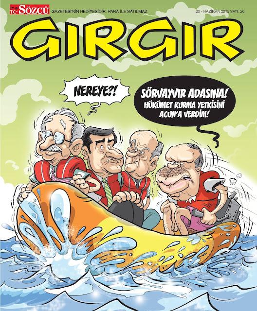 gırgır dergisi 20 haziran 2015 kapak