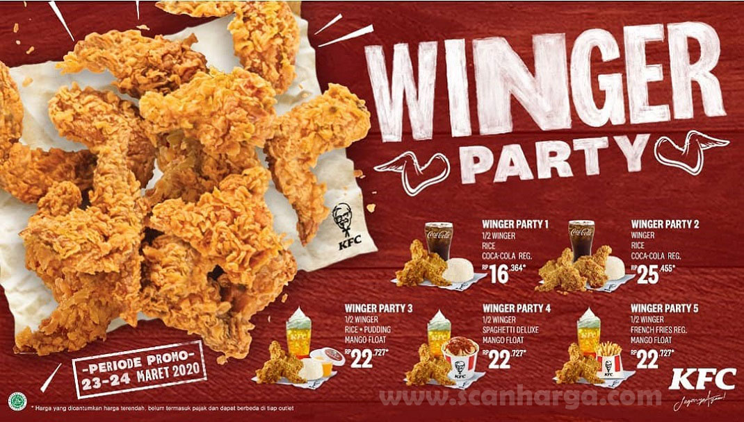 Promo KFC Winger Party 23 - 24 Mei 2020