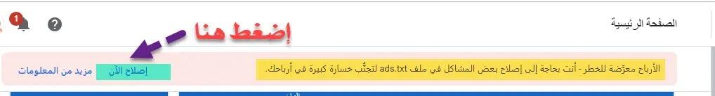 أنت بحاجة إلى إصلاح بعض المشاكل في ملف ads.txt حل مشكلة الأرباح في خطر