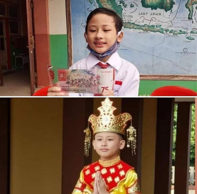 Anak Kecil Bermata Sipit di Balik Uang Rp75 Ribu