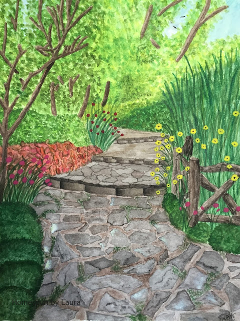 homespun by laura paint my vacation watercolor shakespeare garden central park new york city nyc
