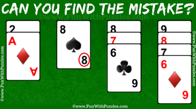 Answer of Genius Mistake Finding Puzzle