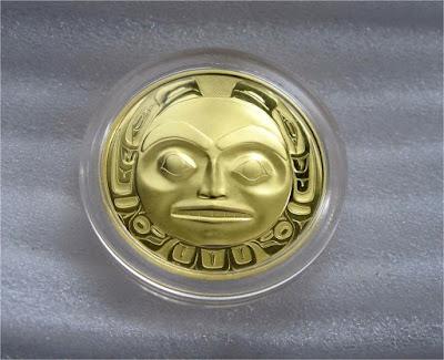 """200 dollars, coin canada """"haida"""""""