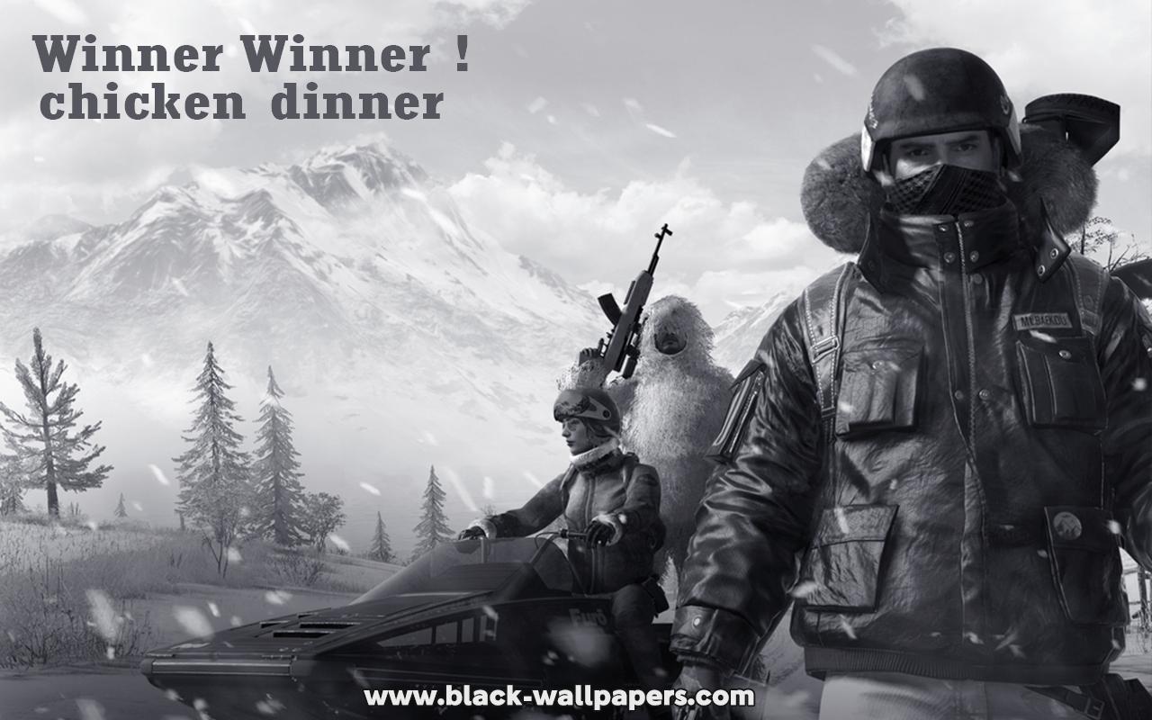 black pubg wallpaper