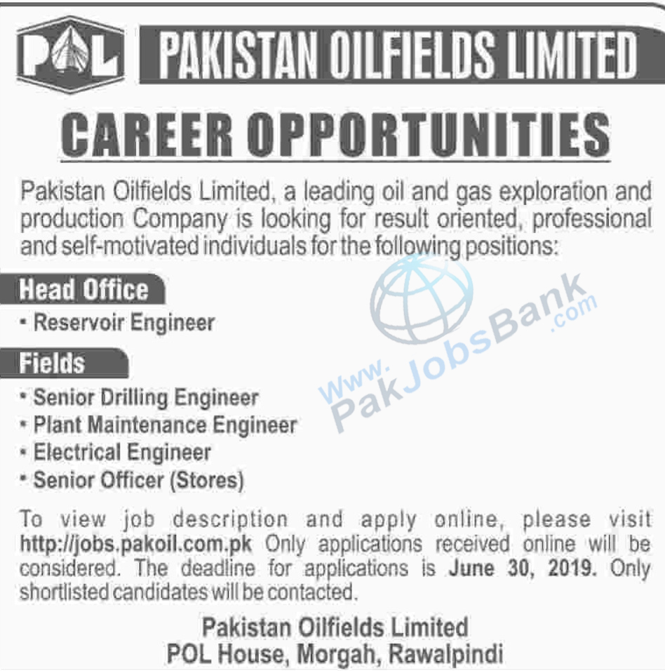 POL jobs 2019 pakistan oilfields new jobs - pakistan jobs bank - Pak