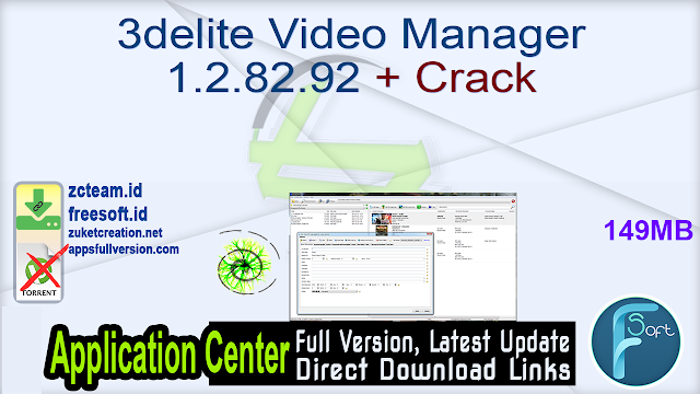 3delite Video Manager 1.2.82.92 + Crack_ ZcTeam.id