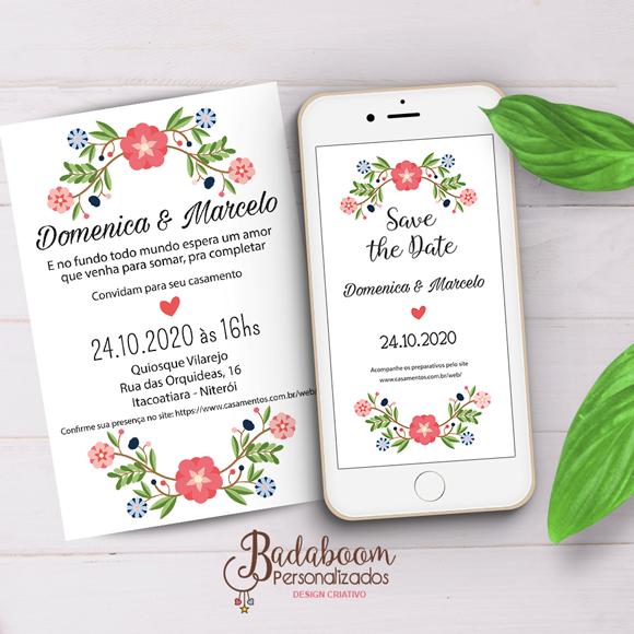 Convite, Save the date, casamento, bodas, floral, arte digital, kit digital, convite whatsapp, convite para imprimir, arte personalizada