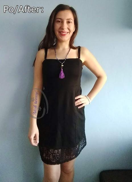 Adzik tworzy - krótka sukienka jak przedłużyć DIY
