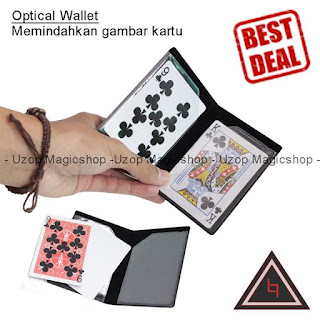 Jual alat sulap Optical wallet card trick