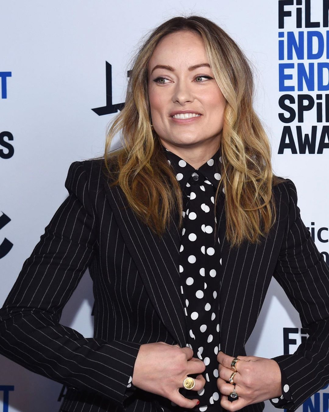 Olivia Wilde wows in pinstripe suit at Film Independent Spirit Awards Brunch