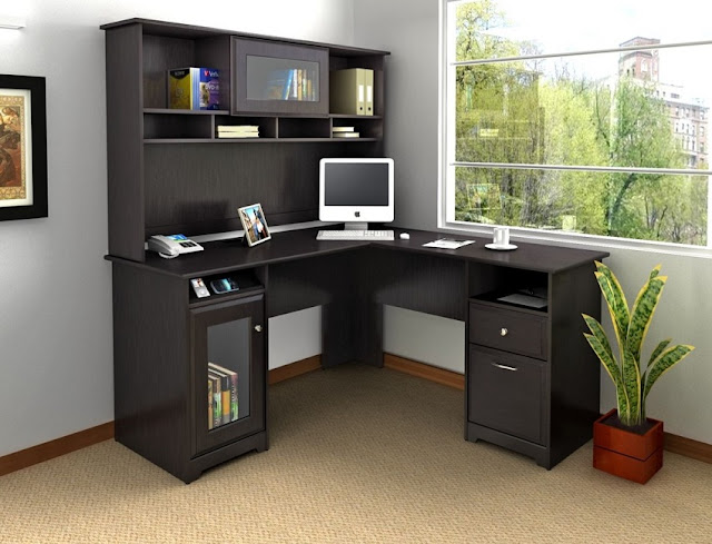 best buy corner Costco office furniture home with hutch for sale