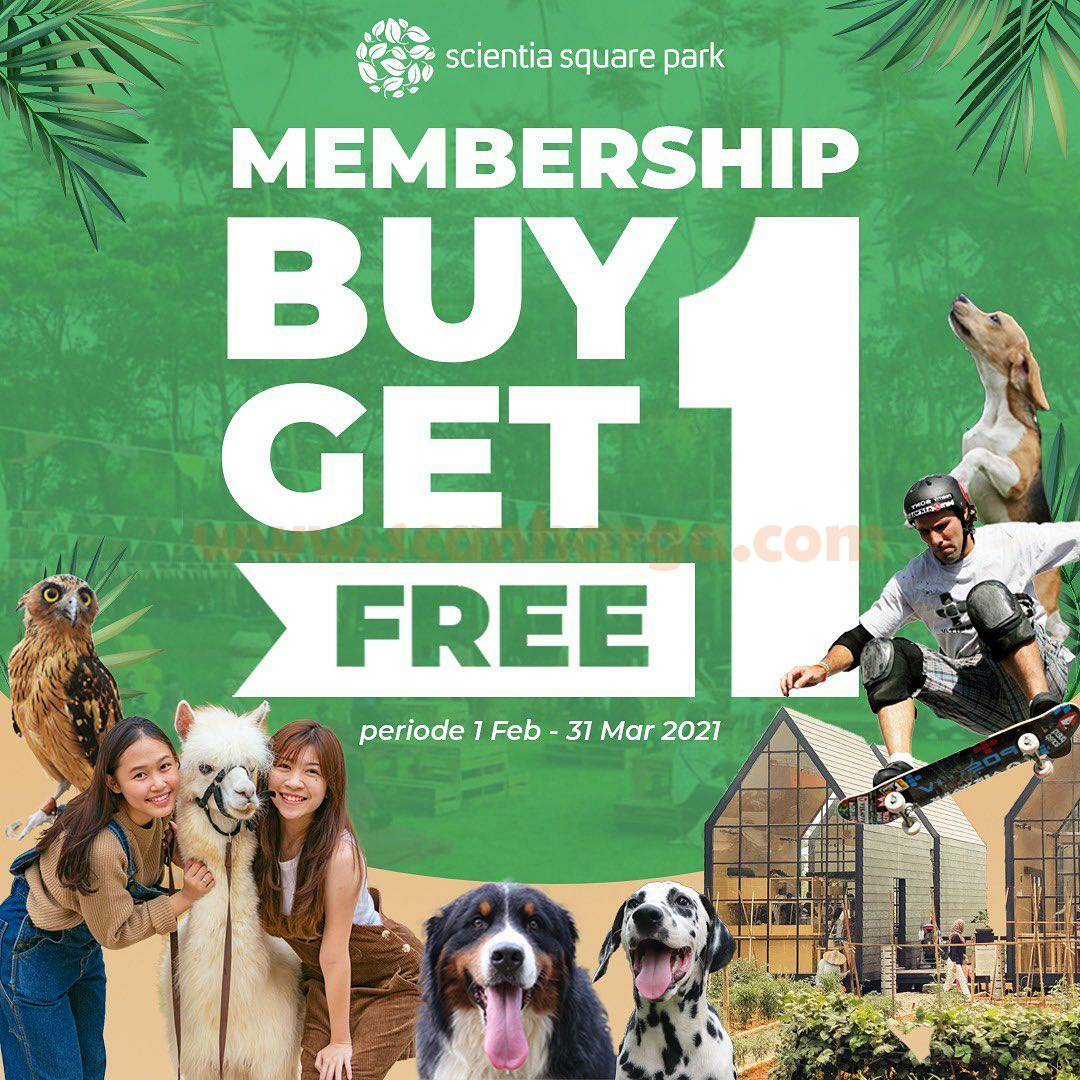 Promo Scientia Square Park BELI 1 GRATIS 1 Annual Membership