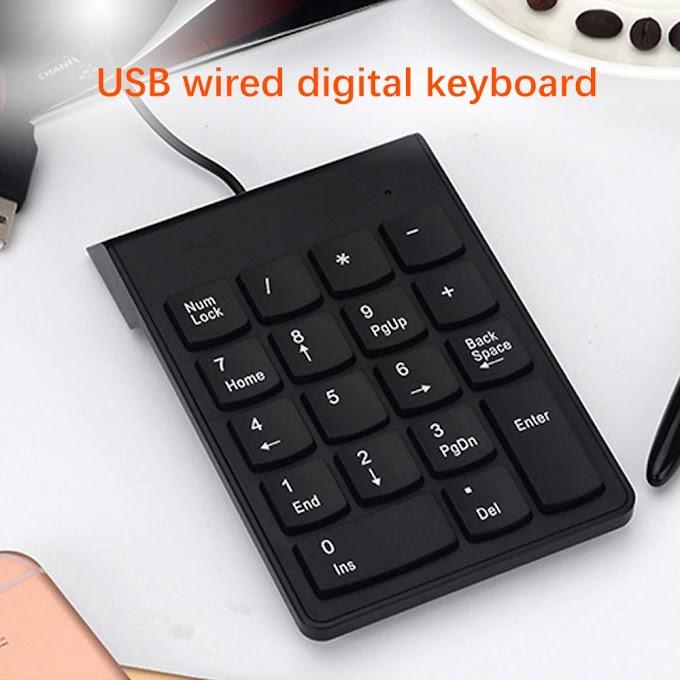 Small-Size 2.4GHz Wire Numeric Keypad Numpad