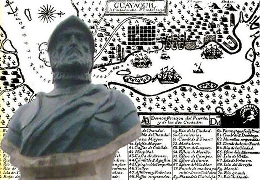 Descubrimiento del Amazonas por Francisco de Orellana Plano_de_Guayaquil_Siglo_XVI-Francisco_de_Orellana