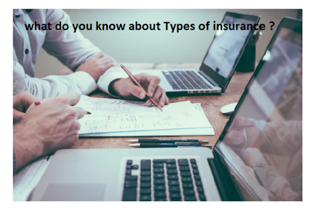 what do you know about Types of insurance ?