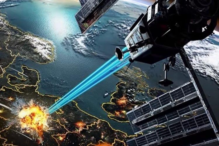 Uzayda konuşlandırılacak uydu görünümünde silahlar yapıldı.