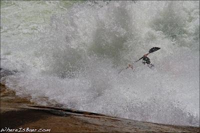 Unknown Kayaker blasting past the Thing on Oceana, Tallulah, fest, Chris Baer, GA , georgia,