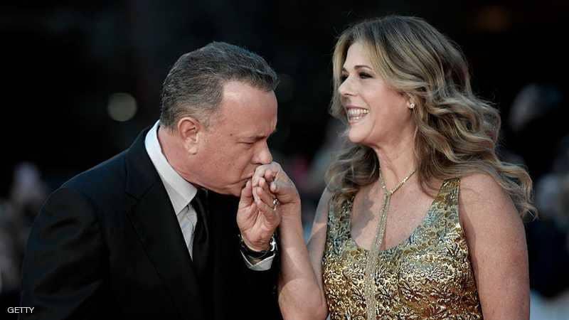 الممثل الامريكى توم هانكس وزوجته