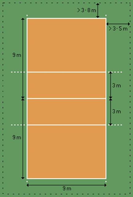 gambar lapangan bulu tangkis simple