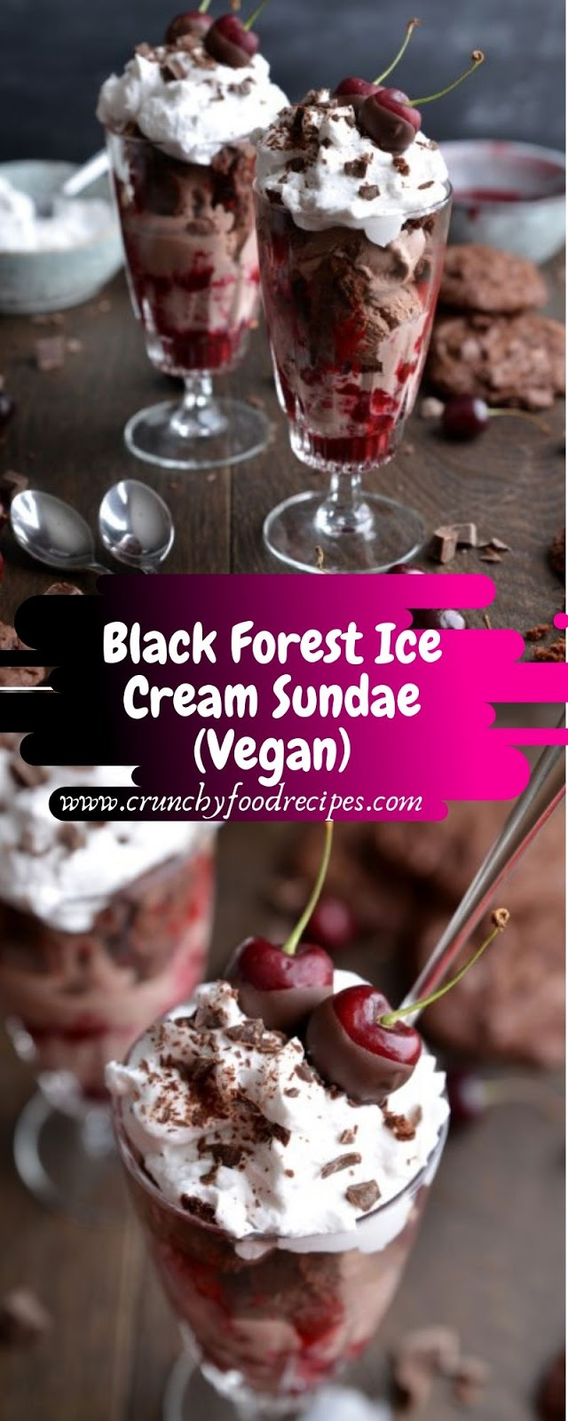 Black Forest Ice Cream Sundae (Vegan)