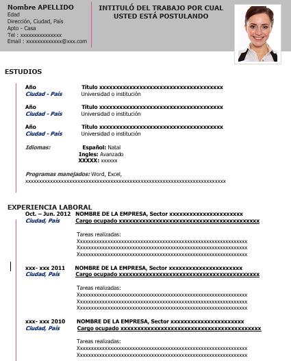 AULAS CREATIVAS: Plantillas Curriculum Vitae
