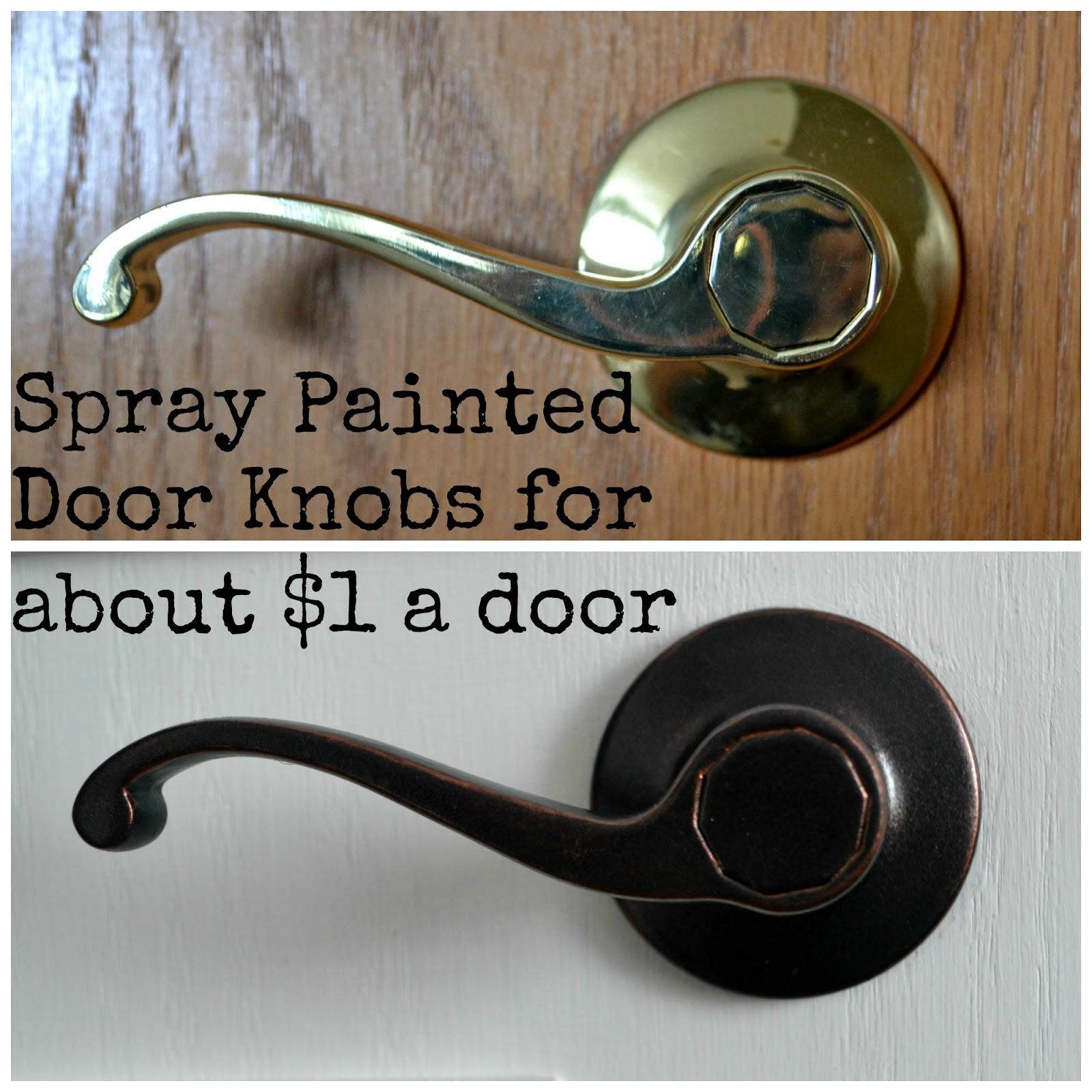 DIY Spray Painted Doorknobs From Cheap Brass to Expensive Oil